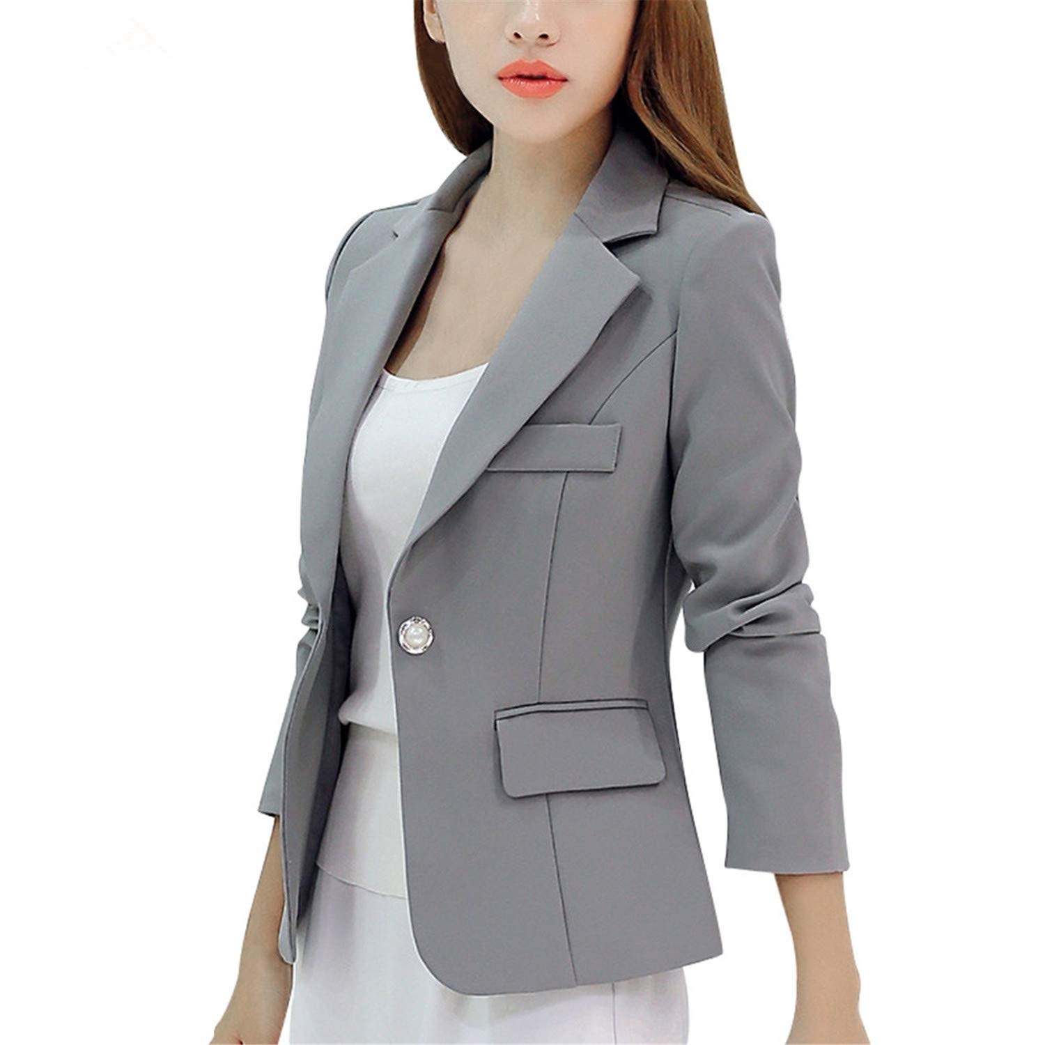 Women Blazer Winter Elegant Button Office Lady Suit Long ...