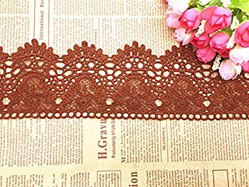 9CM Width Europe Crown Pattern Inelastic Embroidery Lace Trim, Curtain Tablecloth Slipcover Bridal DIY Clothing/Accessories.(4 Yards in one Package) (White) Ltd. YSHG003-1