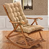 وسادة سميكة لكرسي الاسترخاء او الكرسي الهزاز او الكرسي بمساند للاستخدام الخارجي والداخلي، لون بيج غير لامع 120x48 سم