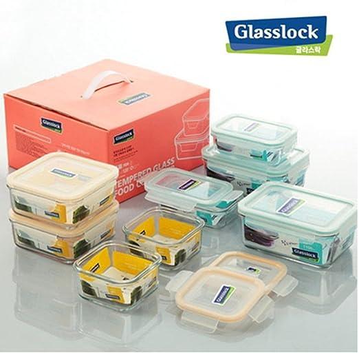 Glasslock recipientes de cristal con tapa (apta para microondas y ...