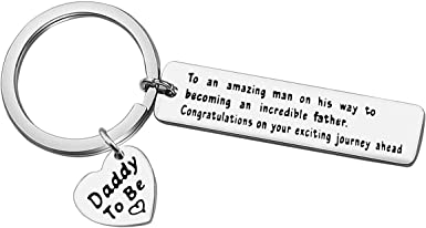 Best Dad Keychain Gift For Husband Personalized Father/'s Day Gift Baby Shower Gift Dad Leather Keychain Daddy Birthday Gift