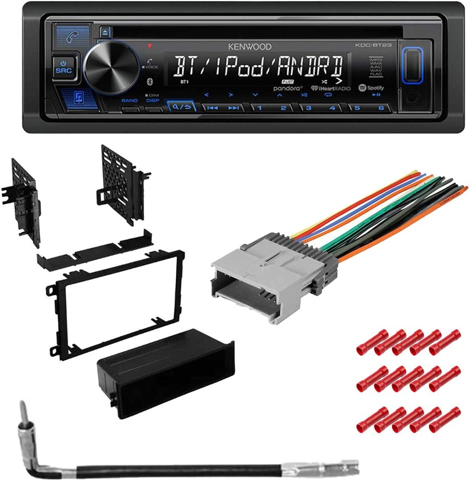 Front USB and AUX W//Dash Mounting Installation Kit CACH/É KIT3255 Bundle W//Car Stereo with Bluetooth for 2003 2006 Chevy Silverado CD//AM//FM Single Din Radio Receiver Dual Phone Connection