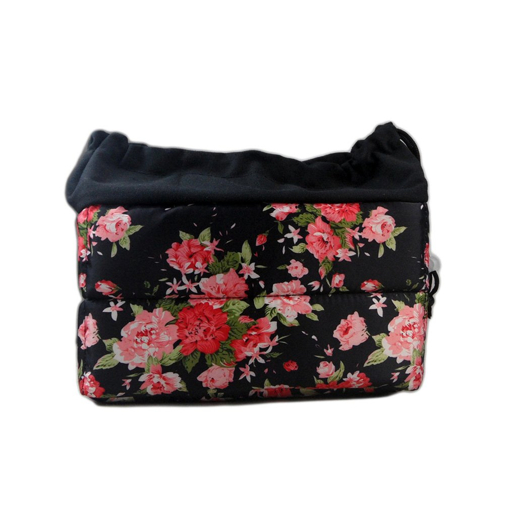 Women Stylish Floral Design SLR DSLR Camera Bag Shockproof Padded Partition Camera Insert Protective Case For Sony Canon Nikon Olympus Pentax and etc SM-XJNDB1156-XMG