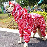 Max&Mix Dog Raincoat,Camouflage Rain Jacket Dog Poncho for Puppy,Medium Large Dogs,Chihuahua,Teddy,Samoyed,Collie,Schnauzer,Golden Retriever,Labrador Retriever,Husky,Akita (16, Pink)