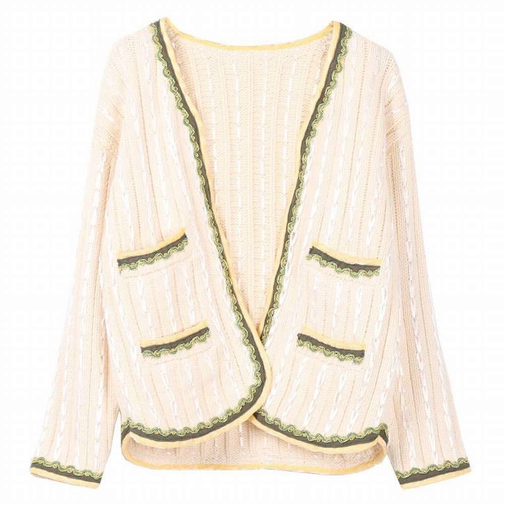 Katylen V-Ausschnitt Fein Gewebt mit Gerippten Seite Langärmeligen Strickjacke Strickjacke Shirt Frauen B07GVF63JN Bekleidung Schnelle Lieferung