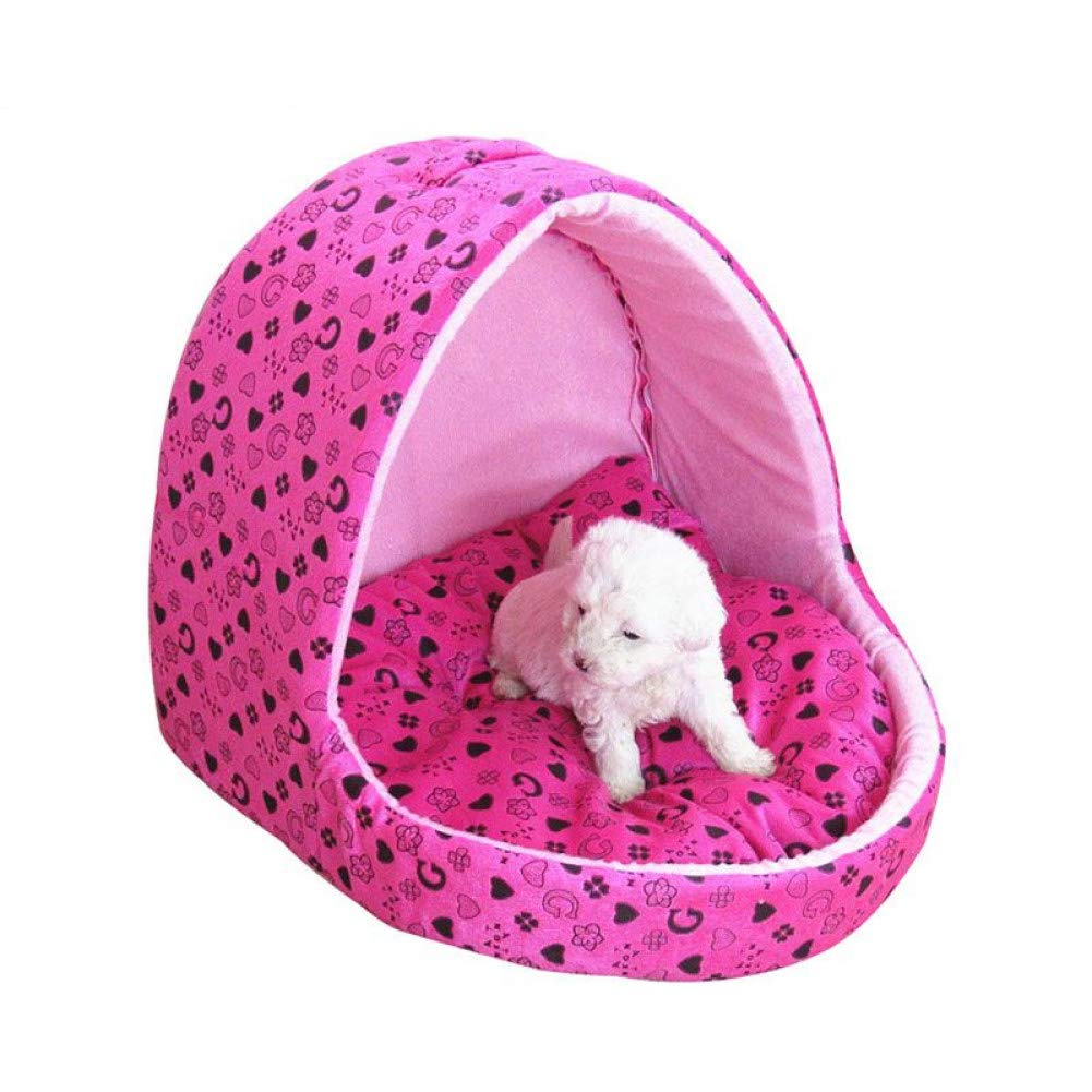 M WWSSXX Cute Princess Dog Bed House For Small Dogs Windproof Slipper