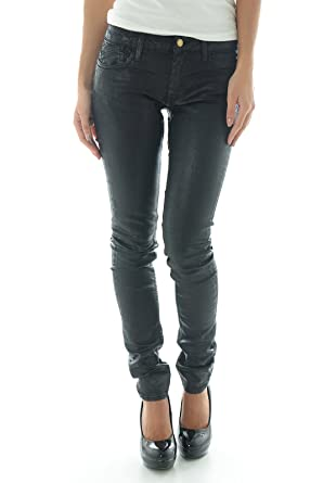 84de4d381acb3 Le temps des cerises - leath - jean - slim - ciré - femme: Amazon.fr:  Vêtements et accessoires