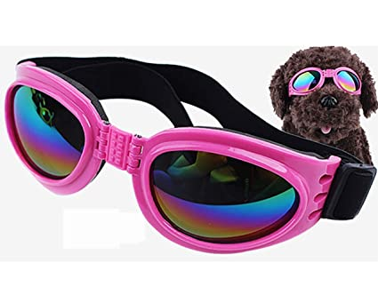b7ccdb7ac0932 Image Unavailable. Image not available for. Color  Pet Dog Sunglasses  Fashion Anti-ultraviolet Foldable Waterproof Protection Goggles with Adjustable  Strap
