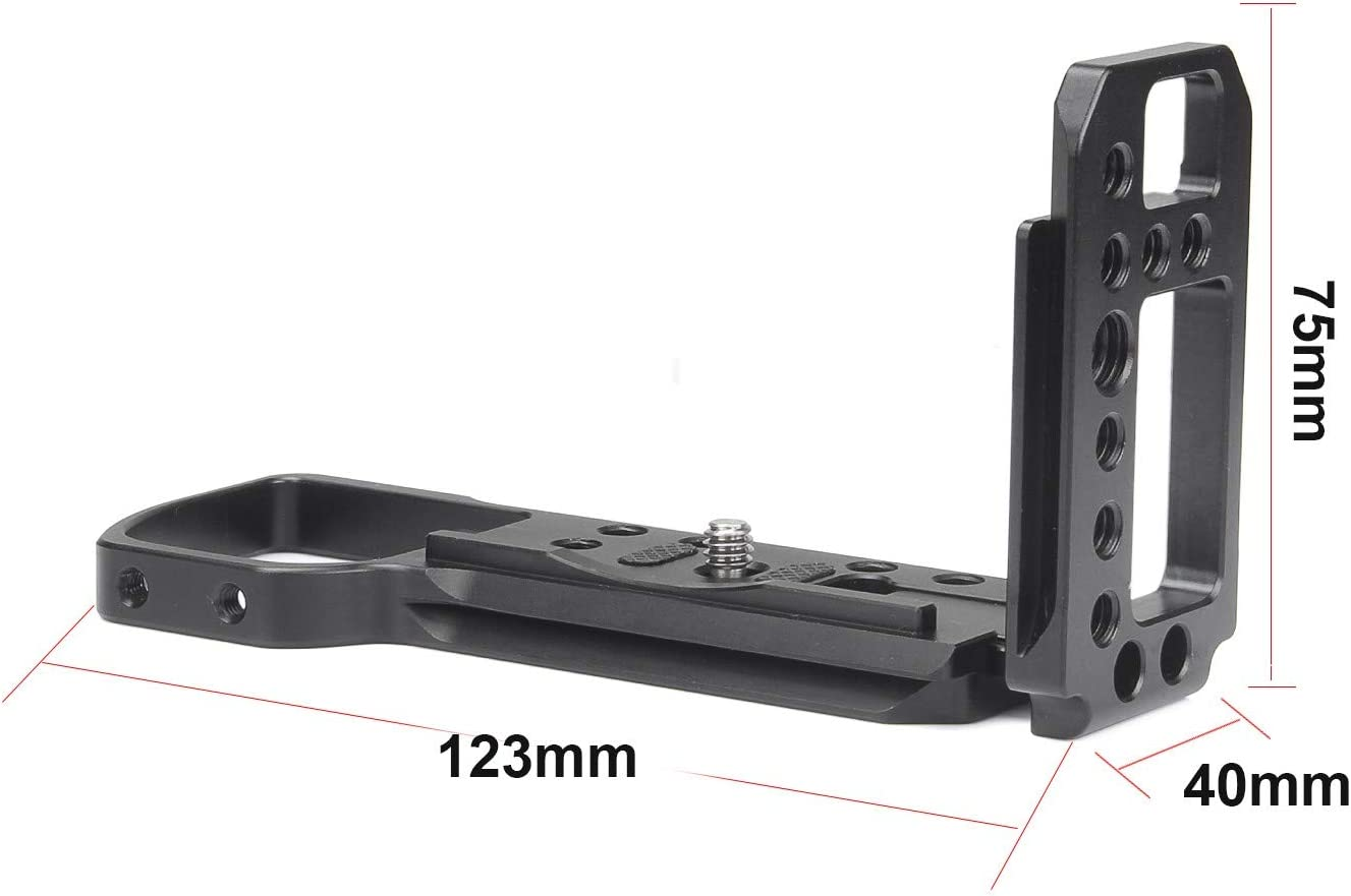 EachRig L-Bracket Camera Cage for Sony a6400 Not for Sony A6500 Arca-Type Compatible Dovetail Plate A6300,/ A6000