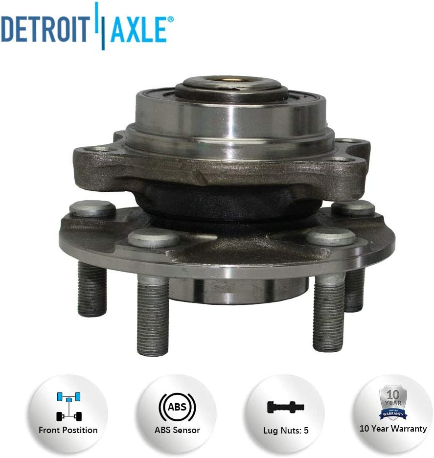 Detroit Axle 513268 Brand New Front Driver and Passenger Side Wheel Hub and Bearing Assembly for 2003 2004 2005 2006 2007 Infiniti G35 RWD Coupe 2003 2004 2005 2006 2007 2008 2009 Nissan 350z