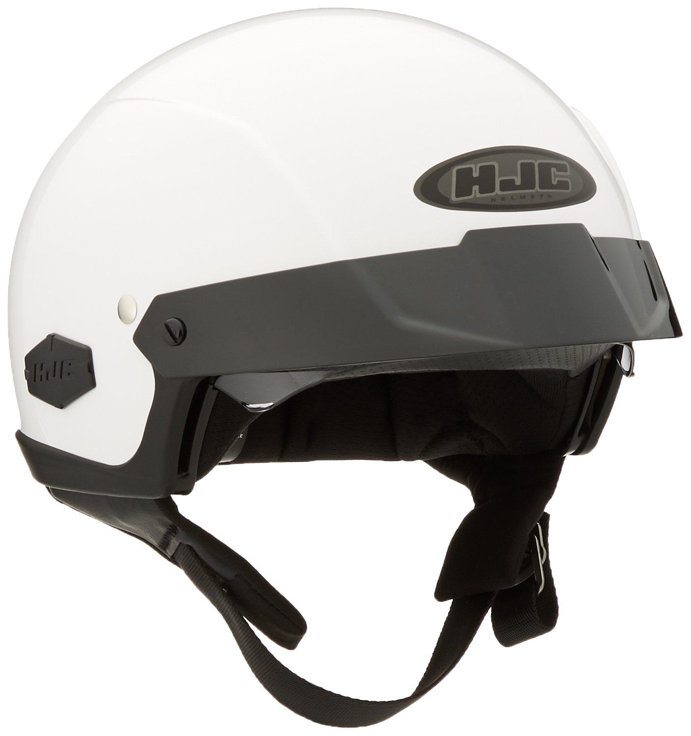 HJC IS-Cruiser Half-Shell Motorcycle Riding Helmet (White, X-Small)