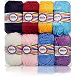 Worsted Weight Yarn, Yarn for Crocheting, 100% Acrylic Yarn, 8 X 1.76 Ounce Balls
