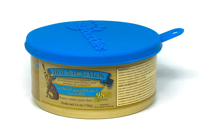 Amazon.com : Hound & Gatos Grain Free Cat Food in 3 Flavors - Salmon, Mackerel, Sardine; Turkey & Turkey Liver; & Original Paleolithic (12 Cans Total, ...