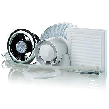 showerfan Ventilateur d\'extraction d\'air lumière LED Kit ...