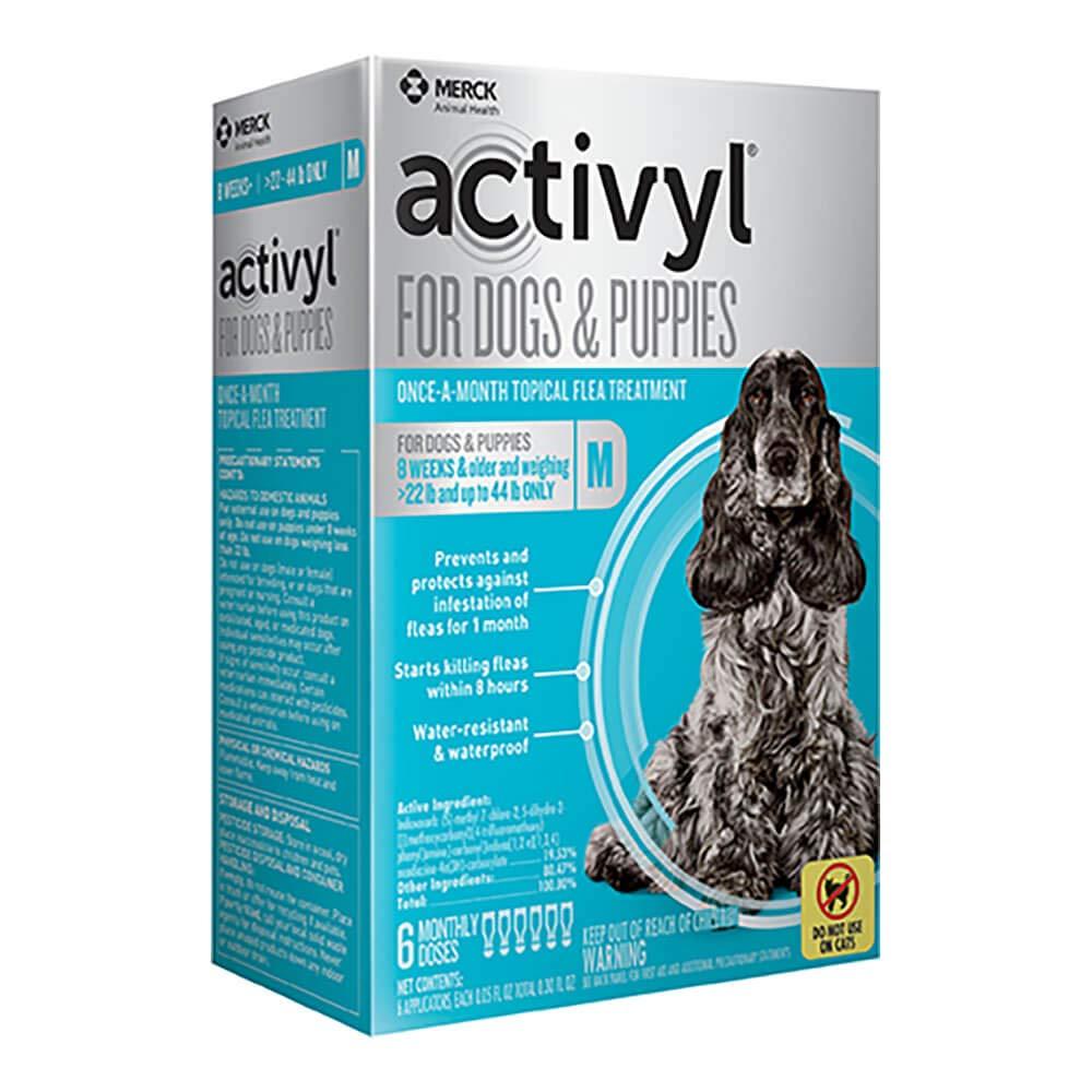 Activyl Medium Dogs & Puppies 23-44lbs, 6-pack by Activyl