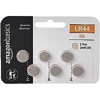 AmazonBasics LR44 Alkaline Button Cell, 6-Pack