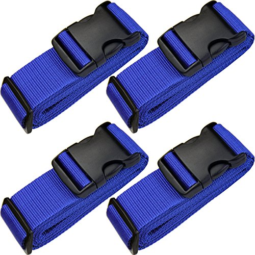 - TRANVERS Travel Straps Luggage Strap Suitcases Belt Baggage Strap Sturdy 4-Pack Blue