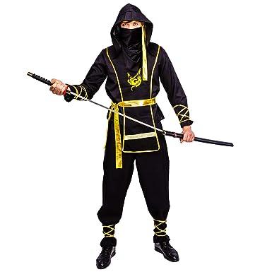 Mens Golden Dragon Ninja Costume