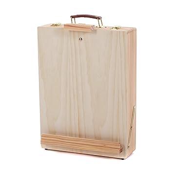 Holz Kunstlerbox Tisch Staffelei Von Xtradefactory Mit Stauraum Fur