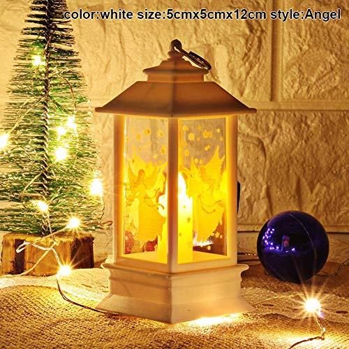 Ywillink Christmas Hanging Night Light Snowman Elk Night Light Santa Claus Lantern Xmas Decor ()
