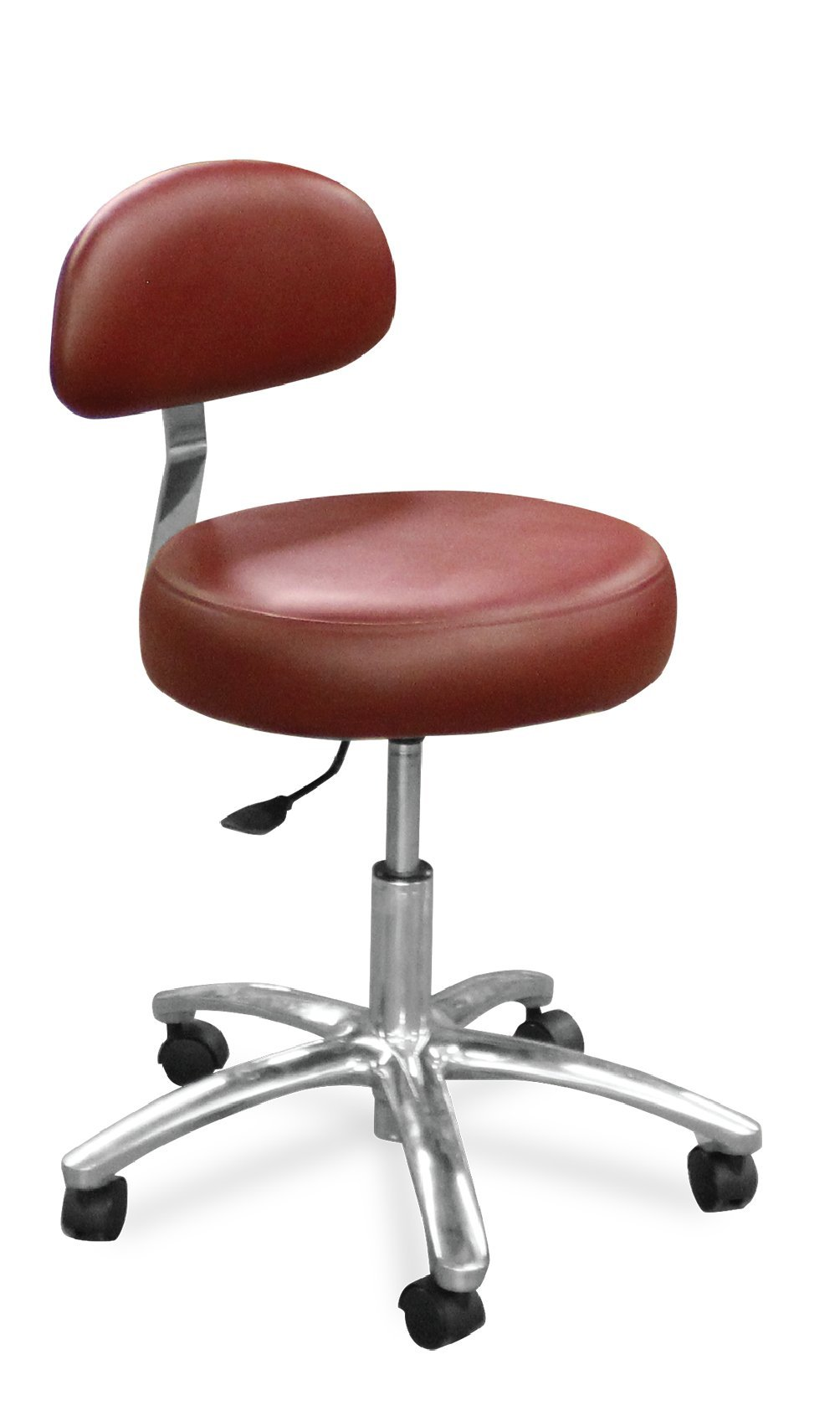 Dentists Unite 510-213 Dental Doctor Stool, Round Seat, Firm Backrest, Cinnamon