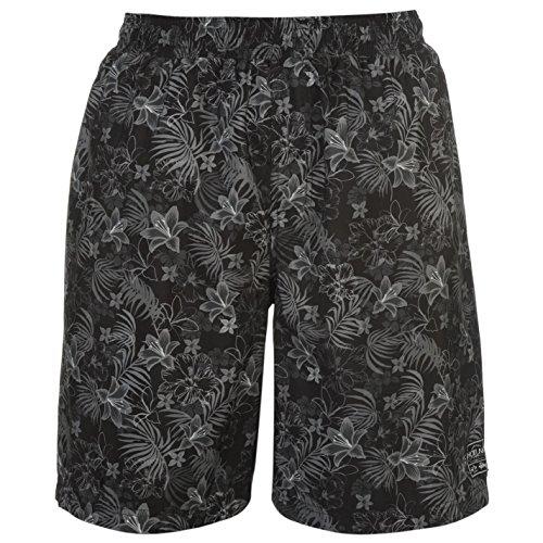Hot Tuna Hombre Aloha Tablero Shorts Pantalones Cortos Ropa Vestir Casual Negro