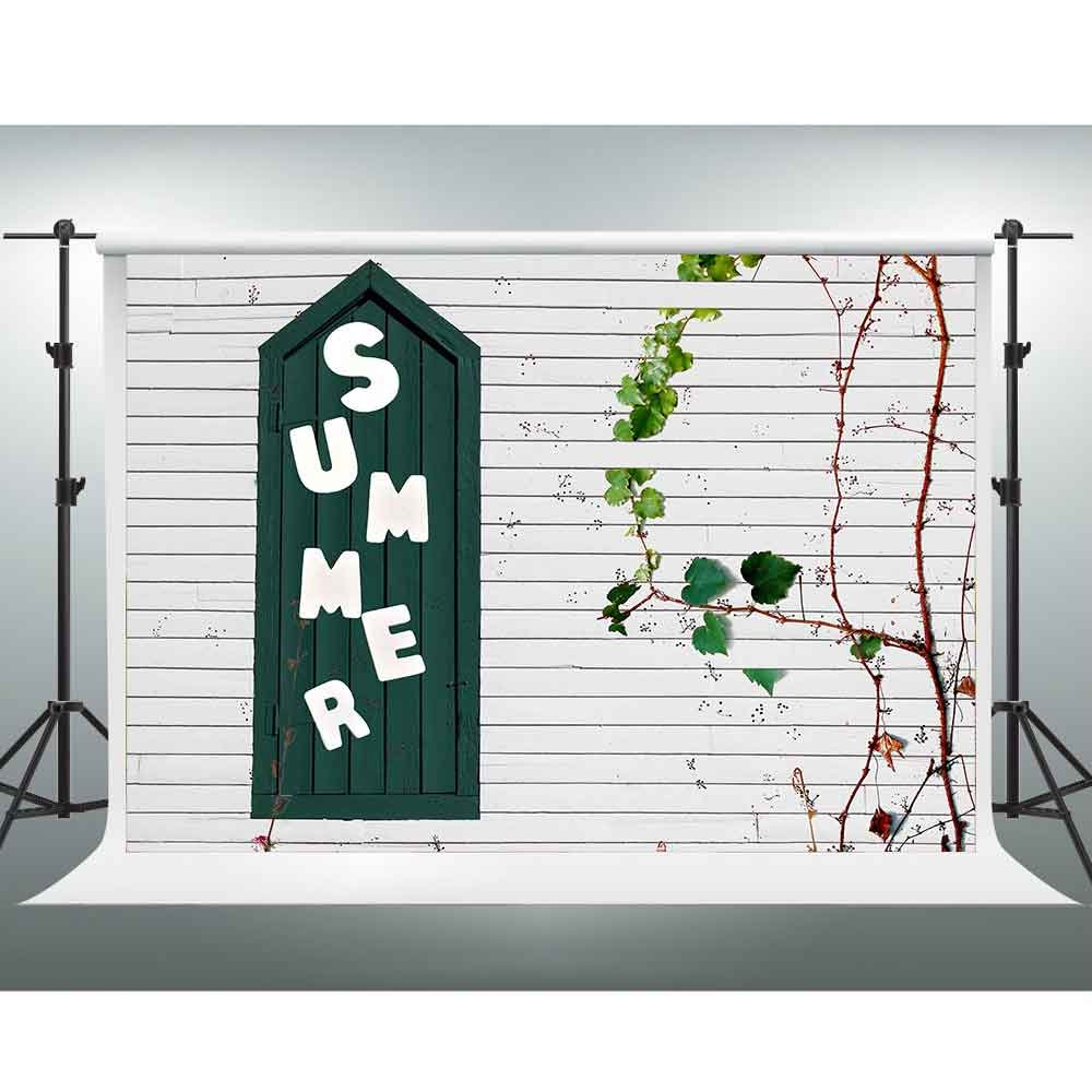 10 x 7ft夏Backdropホワイト厚板Freshアート植物写真ウェディング写真用背景テーマパーティーBackdrop You Tube背景フォトスタジオ撮影ブース小道具pgge185   B07FNZ7QPP