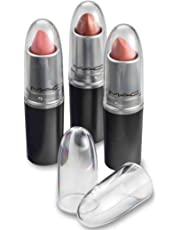 byAlegory Clear Lipstick Caps For MAC - Replaces Original Cap To See Your Favorite Lipstick Color Easily (12 pack)