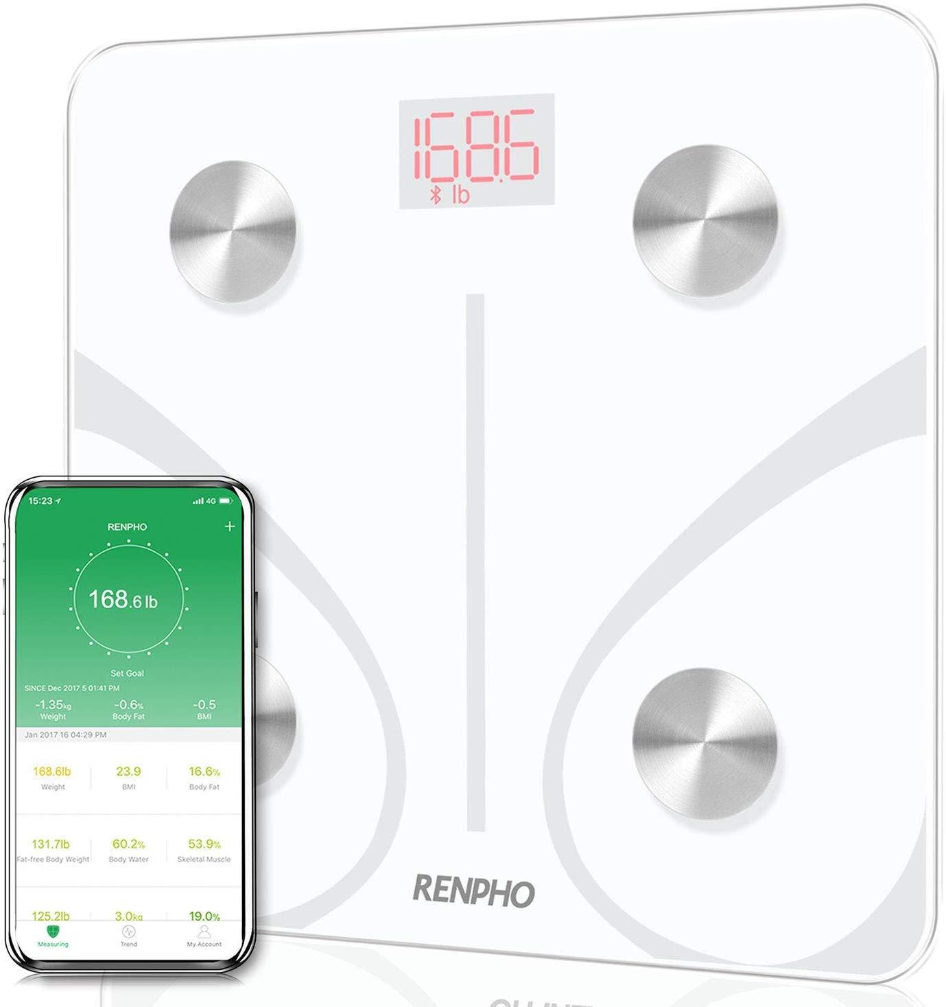 RENPHO Báscula de Baño Digital de Alta Medición Precisa, Balanza Digital Baño con Bluetooth con APP, Báscula Electrónica de Alta Medición Precisa con ...