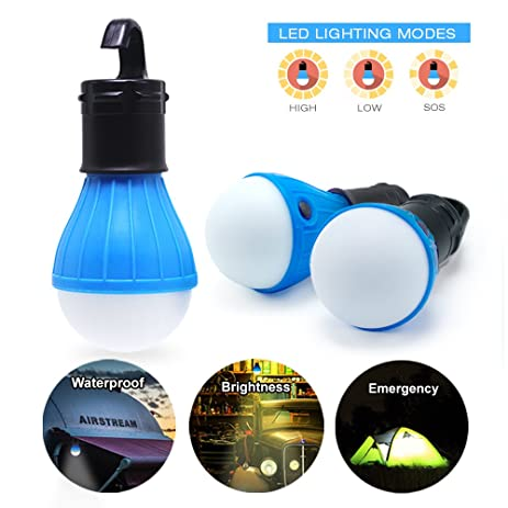 eTopLighting |3-Pack| Hook Light LED Hanging Tent Lantern for C&ing Tent Light  sc 1 st  Amazon.com & Amazon.com : eTopLighting |3-Pack| Hook Light LED Hanging Tent ...