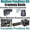 "10 x 30 Medium Pondless Waterfall Kit 4000 GPH Mag Drive Pump Savio 16"" Waterfall & Savio Watefall Well PMDS2"