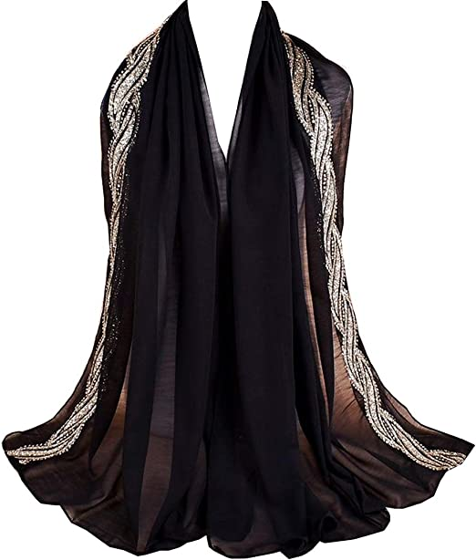 Women Ladies Lace Sheer Floral Scarf Shawl Wrap Stole Wedding Bridal Prom Long
