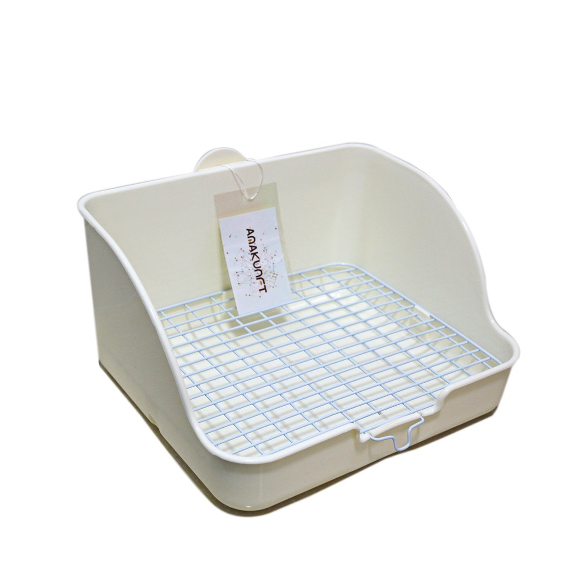 HongYH Pet Small Rat Toilet, Square Potty Trainer Corner Litter Bedding Box Pet Pan for Small Animal/rabbit/guinea Pig/galesaur/ferret(Grey) by HongYH (Image #2)
