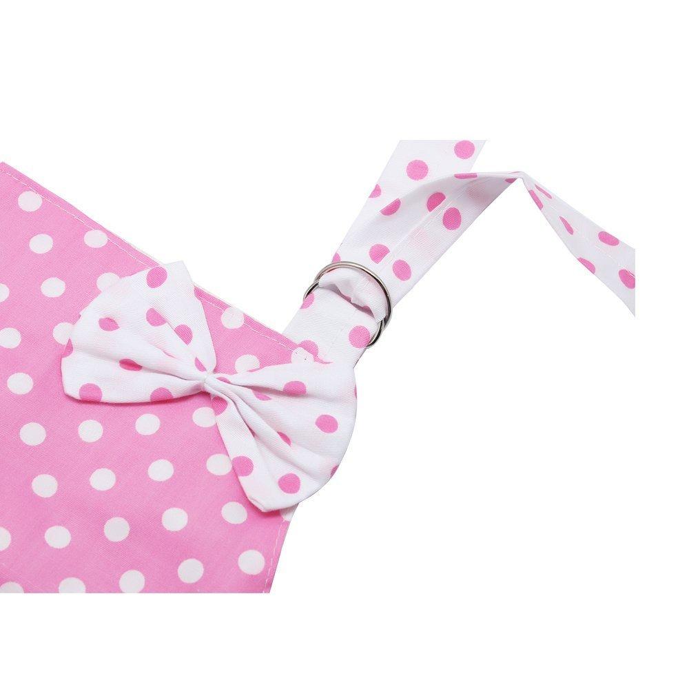 Bambini grembiule da cucina Girls con fiocco rosa per cottura cuocere painting party con 2/strati panno