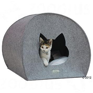 Cat den Cave - Cálido lavable de fieltro de cama iglú Catnap sueño: Amazon.es: Productos para mascotas
