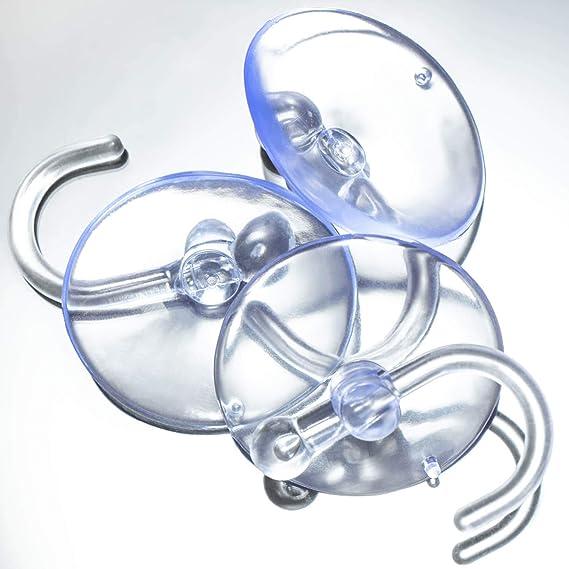 40x Saugnapfhalter mit Kunststoffhaken Deko Mehrzweck-Haken für Lichterketten