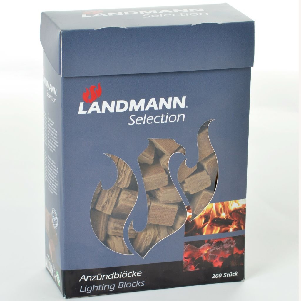 LANDMANN Allume-feu Cubes 200 pcs Fibre de Bois 15104