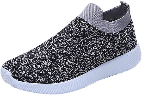 ZARLLE_Zapatos Zapatos Mujer Malla Al Aire Libre para Mujer Slip Casual En Suelas Cómodas Running Sports Shoes Doradas con Alto Playa TacóN Tobillera Ecco: Amazon.es: Zapatos y complementos