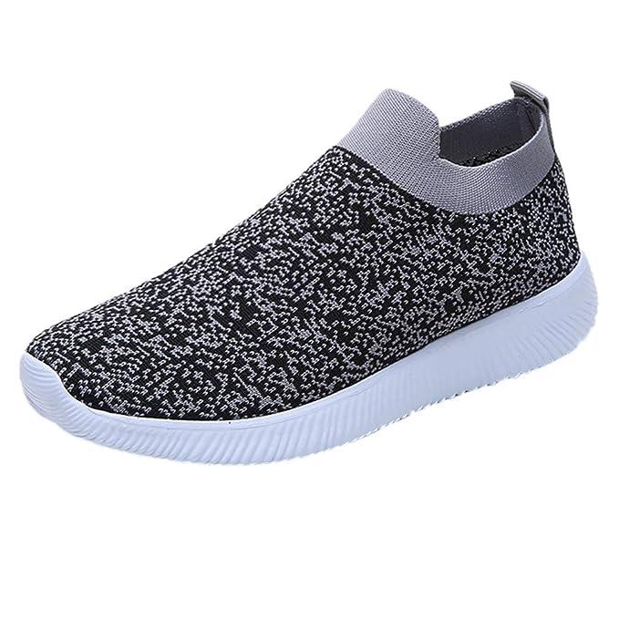YiYLunneo Zapatillas para Mujer Zapatos para Correr Gimnasio Sneakers Deportivas Transpirables Casual Women Fashion Flats Shoes Mesh Botas Planas: ...