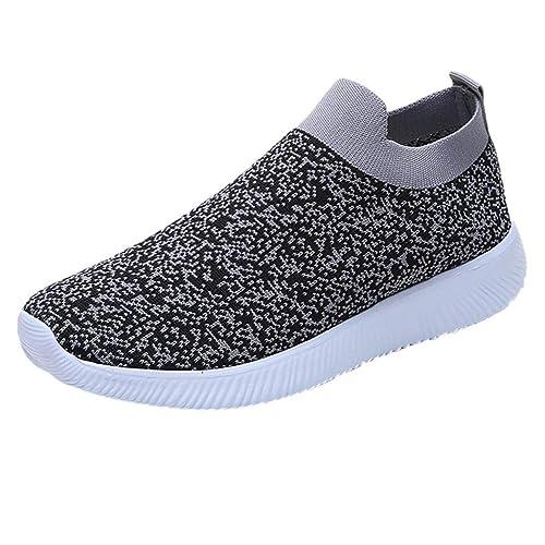 Zapatillas Deportivo para Mujer Primavera Verano 2019 PAOLIAN Zapatos Running Aire Libre Exterior Escolares Señora Casual Calzado Plano Sin Cordones Dama ...