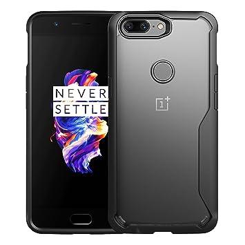 FugouSell OnePlus 5T Funda Silicone, One Plus 5T Carcasa Transparent Back Case con TPU Frame Ultra Delgado Anti-rasguños A Prueba de choques Protector ...
