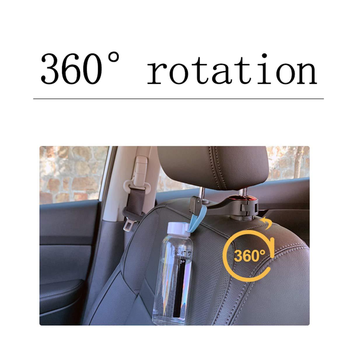Silver -Set of 2 Jinjin Universal Car Vehicle Back Seat Headrest Hanger Holder Hook for Bag Purse Cloth Grocery