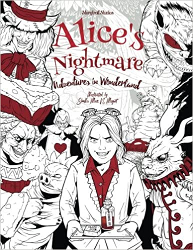 Alice\'s Nightmare - Adventures in Wonderland - Adult Coloring Book ...