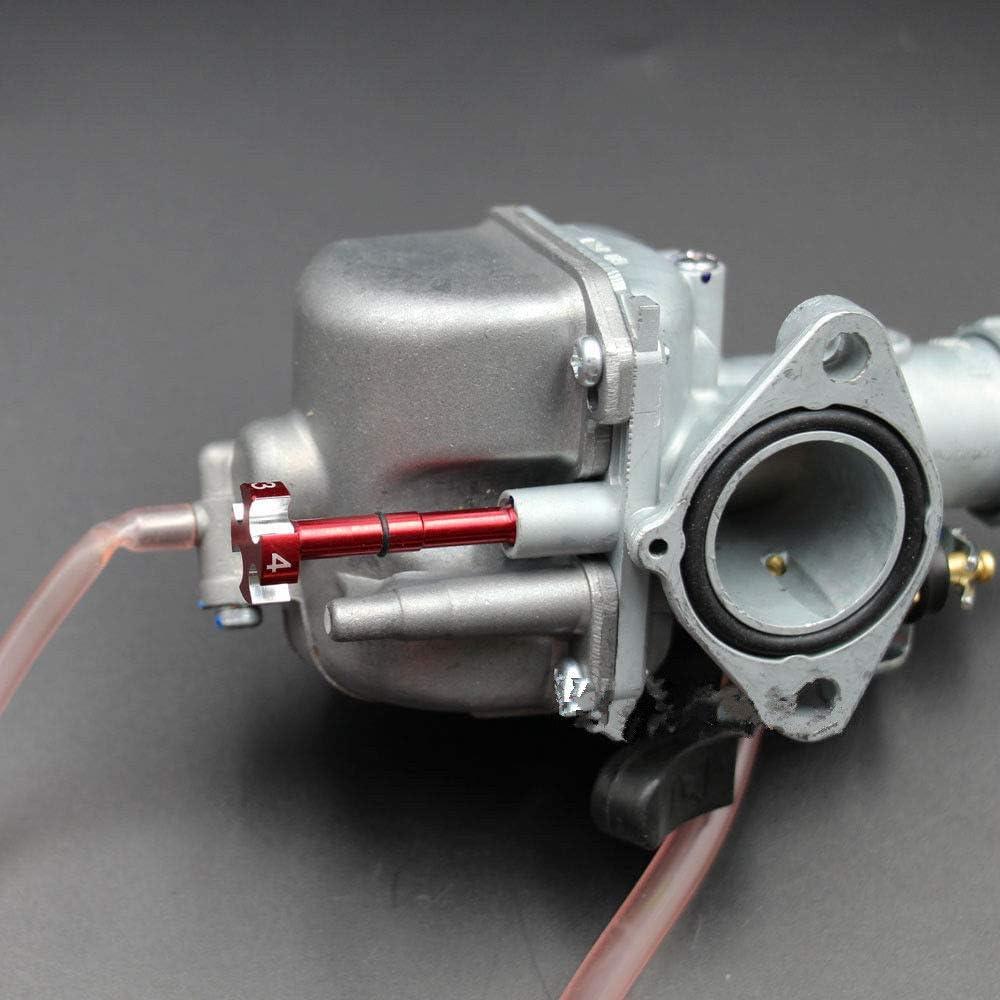 Naliovker Carburador de Aire de Motocicletas de Aluminio Portatil Ajuste Facil de Combustible Tornillo de Mezcla