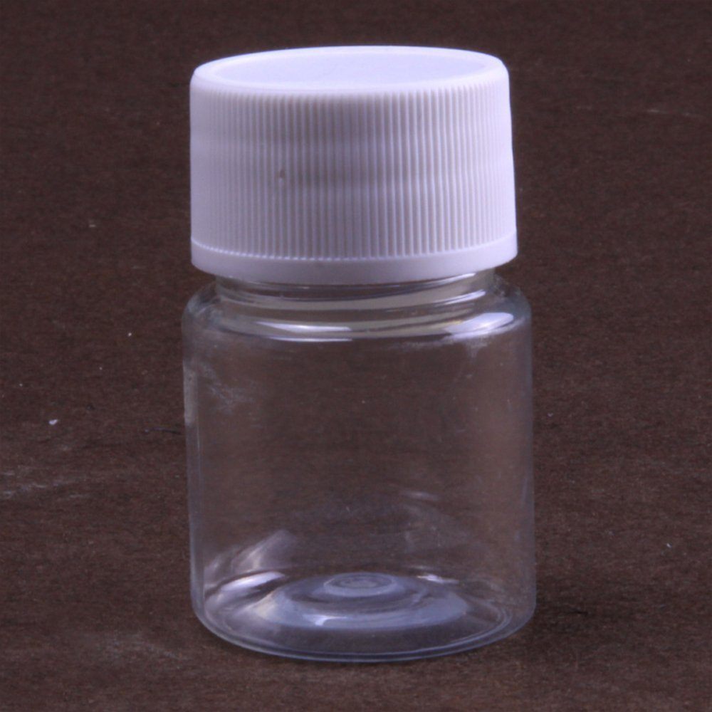 Nacpy Plastic Reagent Bottle Cylindrical Chemical Container Reagent Bottle Experiment Bottle 80ml 10Pcs Clear