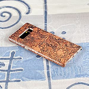 Samsung Galaxy Note 8 Protective Slim Case. Tooled Leather Pattern.