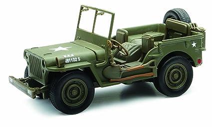 amazon com new ray jeep willys 1 32 scale die cast model car ww ii