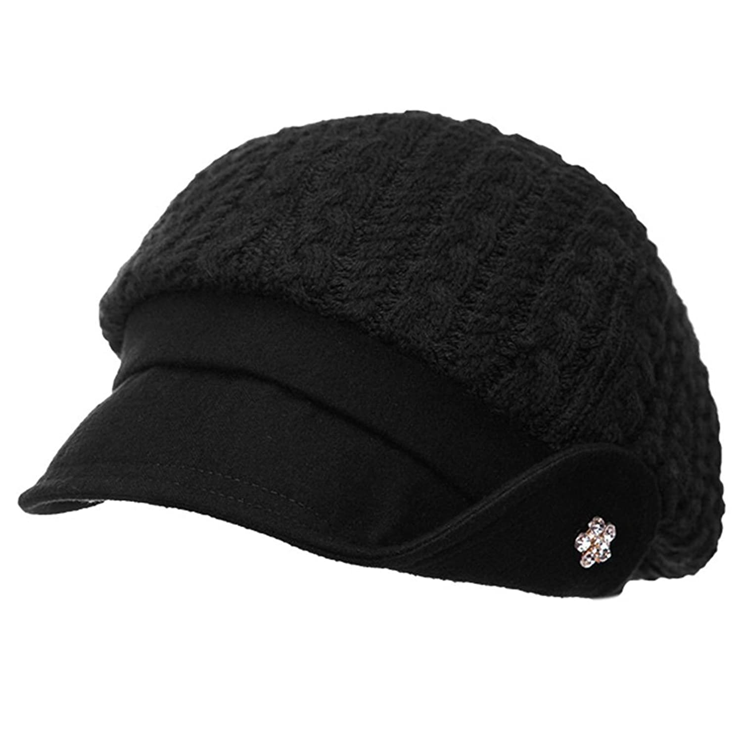f1c1cac71 Cable Knit Hat With Visor