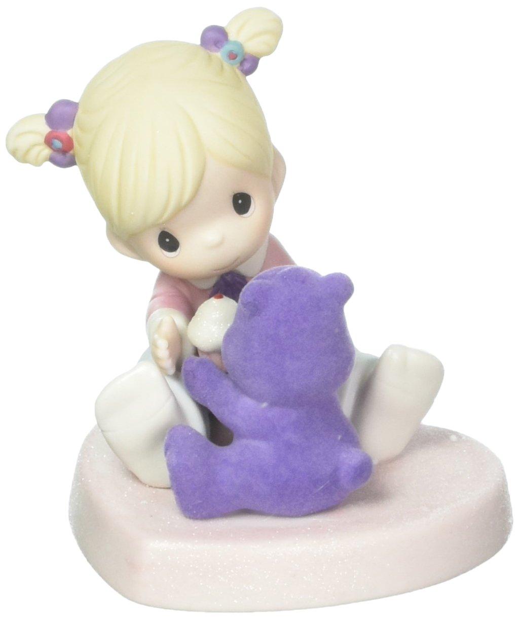 163042,Multi Bisque Porcelain Figurine Precious Moments Company 163042 Precious Moments Share a Smile Care Bears