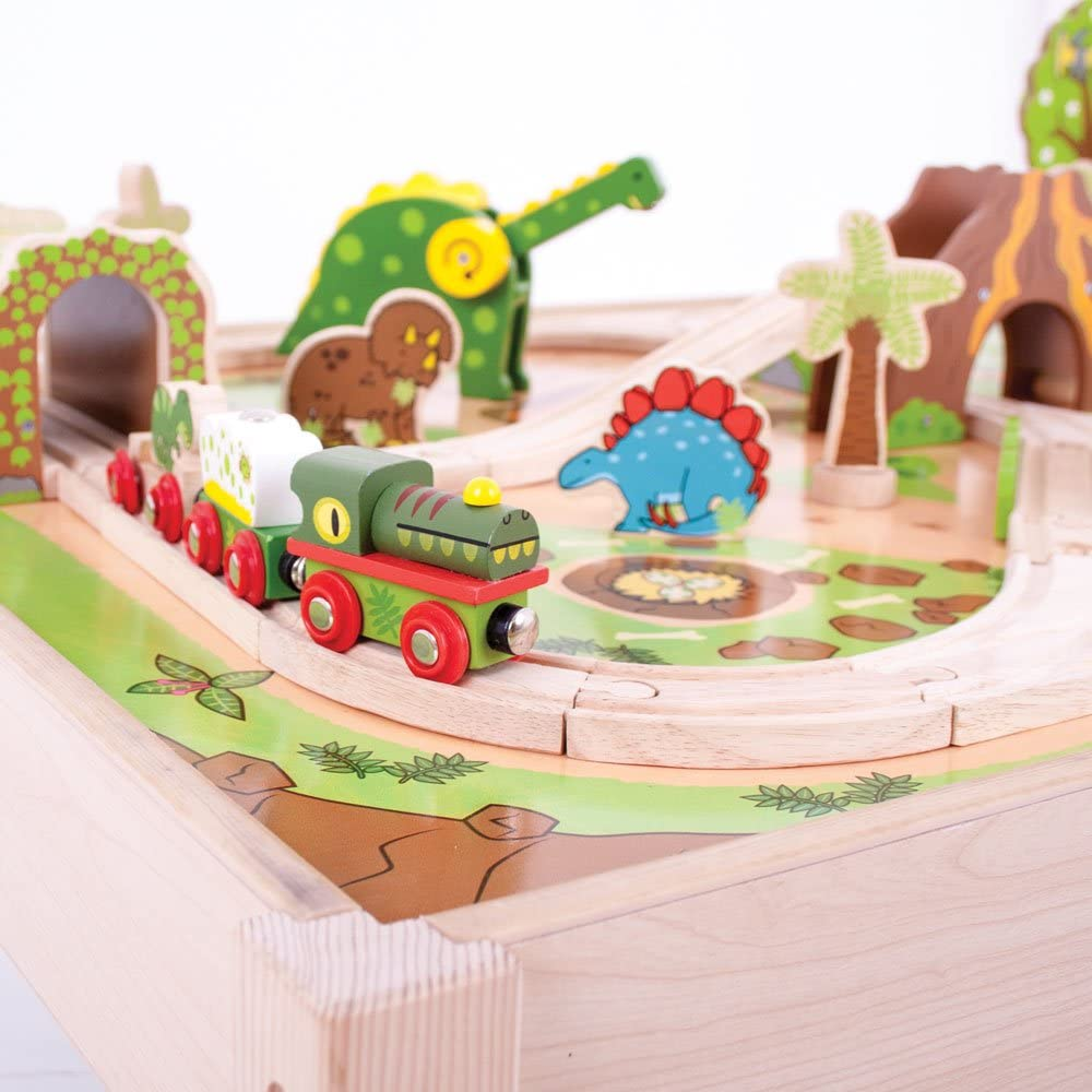 Bigjigs Rail Locomotiva con carrozze Dinosauro